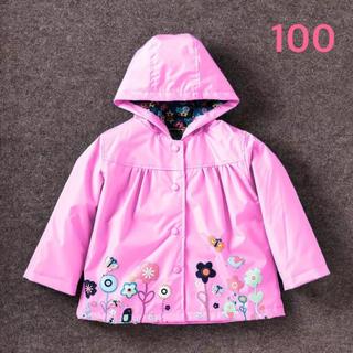 レインコート ウィンドブレーカー ピンク サイズ100(レインコート)