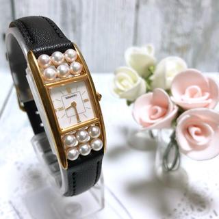 ミキモト(MIKIMOTO)の【美品】 MIKIMOTO ミキモト 12連 パール 腕時計 レディース (腕時計)