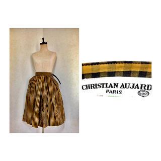 クリスチャンオジャール(CHRISTIAN AUJARD)のCHRISTIAN AUJARD FRALE SKIRT チェック スカート(ひざ丈スカート)