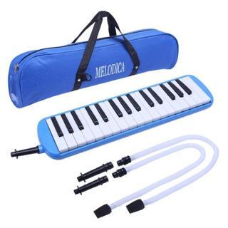 即買いOK★鍵盤ハーモニカ 32鍵 ブルー(その他)