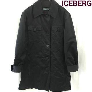 アイスバーグ(ICEBERG)の良品 アイスバーグ ICEBERG ビンテージ ステンカラーコート 黒 ブラック(ステンカラーコート)