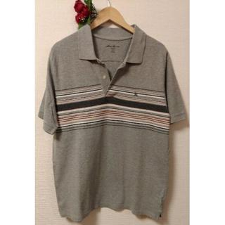 エディーバウアー(Eddie Bauer)のエディーバウアー ポロシャツ 半袖 L コットン100% グレー レディース(ポロシャツ)