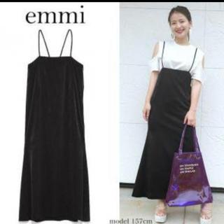 エミアトリエ(emmi atelier)のemmi  ブラック  ワンピース  サイズ0(ひざ丈ワンピース)