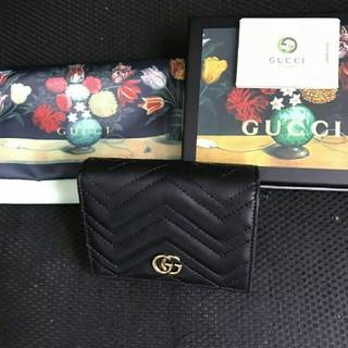 グッチ(Gucci)のGUCCI GGマーモント 無地 折り財布(財布)