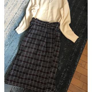 アルシーヴ(archives)のツイード♡チェックロングスカート(ロングスカート)