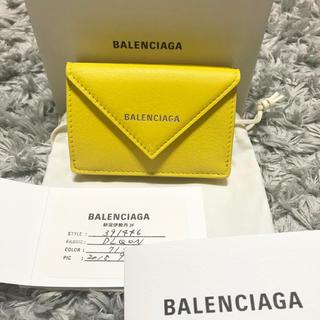 バレンシアガ(Balenciaga)の最終価格 新品♡バレンシアガ ペーパーミニウォレット イエロー 財布(財布)