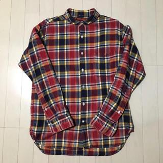 カトー(KATO`)のKATO' NAVY & GROUND チェックシャツ ネルシャツ(シャツ)