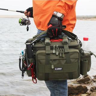 多機能 釣り袋 3WAY 釣りバッグ フィッシングッグ 大容量 1000D防水(ウエア)