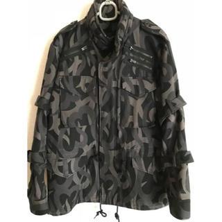 ナンバーナイン(NUMBER (N)INE)のナンバーナイン M65 ジャケット ハートトライバル 美品 (ミリタリージャケット)
