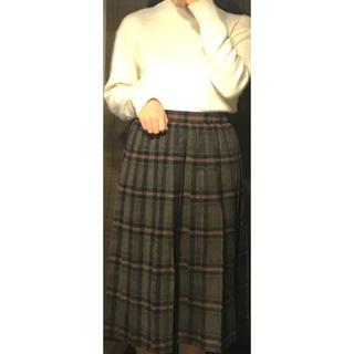 サンタモニカ(Santa Monica)のブラウン チェックスカート 古着(ロングスカート)
