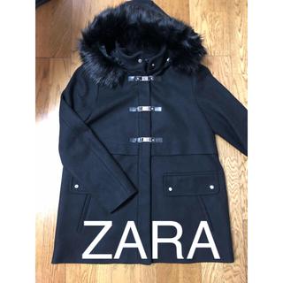 ザラ(ZARA)のZARA  BASIC 大人っぽいダッフルコート L(ダッフルコート)