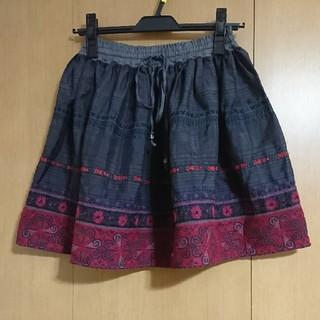 ナバアサナ(navasana)のナバアサナ 刺繍スカート アメリカンラグシー(ミニスカート)
