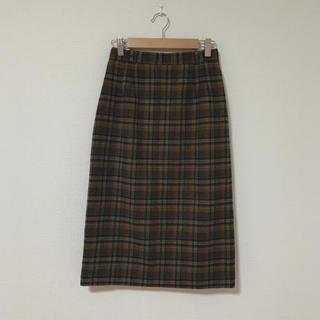 サンタモニカ(Santa Monica)の古着 チェック柄スカート(ひざ丈スカート)