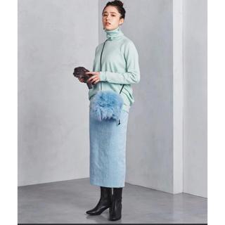 ユナイテッドアローズ(UNITED ARROWS)のUNITED ARROWS アイスブルー パステルカラー ロングスカート タイト(ロングスカート)