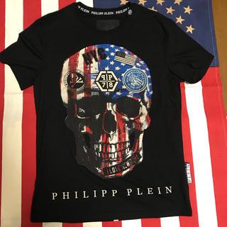 PHILIPP PLEIN風 ドクロ Tシャツ 星条旗