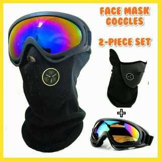 スノーボード スノボー スキー スノー ゴーグル フェイスマスク セット 新品(アクセサリー)