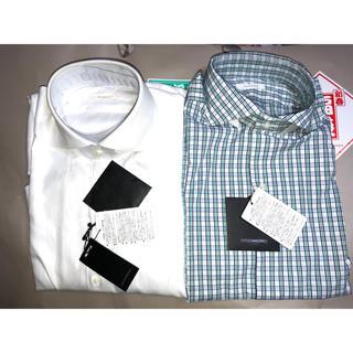 デザインワークス(DESIGNWORKS)のDESIGNWORKS メンズビジネスシャツ2枚セット 新品 38(シャツ)