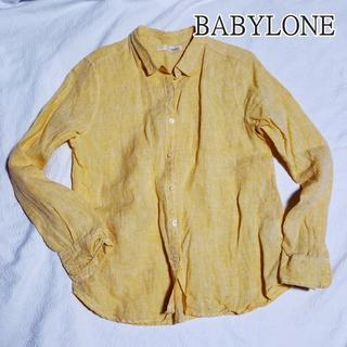 バビロン(BABYLONE)のBABYLONE バビロン フレンチリネンのシャツ 麻 9号 Mサイズぐらい(シャツ/ブラウス(長袖/七分))
