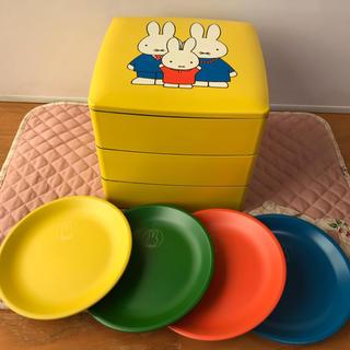 ミッフィー 重箱と取皿セット(弁当用品)
