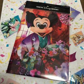 ディズニー(Disney)のイマジニングザマジック ミッキー &ミニー ポストカードダブルポケットホルダー(キャラクターグッズ)