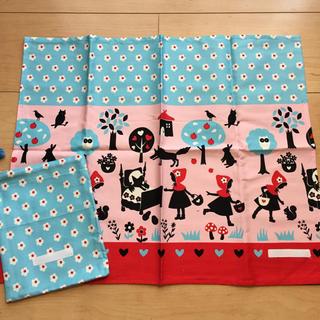 給食ランチクロス   赤ずきんピンク 40×50(弁当用品)