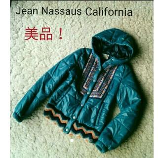 ジーンナッソーズ(jean nassaus)の美品!ジーンナッソーズ☆可愛いチロリアン刺繍ジャケット(ダウンジャケット)