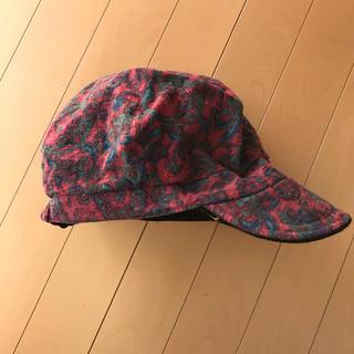 カシラ(CA4LA)のキャスケット 帽子 カシラ CA4LA ユニセックス ペイズリー柄 エンジ(キャスケット)