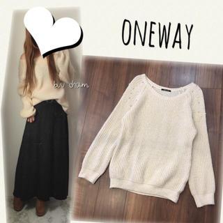 one*way - oneway♡肩パールニット