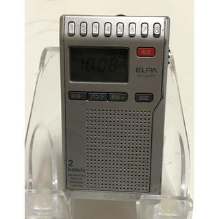 ELPA エルパ AM/FM コンパクト ラジオ ER-N34PR 稼動品(ラジオ)