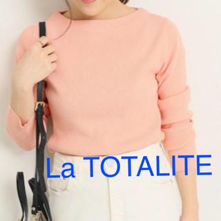 ラトータリテ(La TOTALITE)のLa TOTALITE 2018 リブニット ピンク(ニット/セーター)
