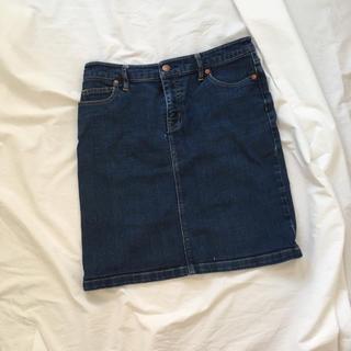 ムジルシリョウヒン(MUJI (無印良品))の無印良品 デニム スカート 64(ひざ丈スカート)