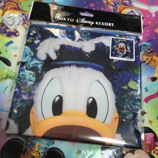 ディズニー(Disney)の【新品】イマジニングザマジック ドナルド ウォッシュタオルディズニーリゾート(キャラクターグッズ)