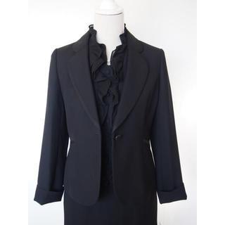 SOIR - 【新品】東京ソワール11号★喪服・礼服 黒ジャケットスーツ