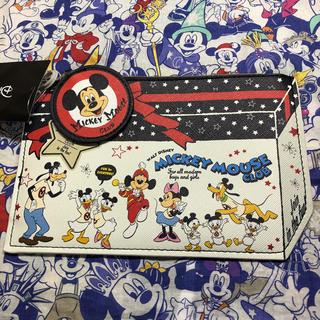 ディズニー(Disney)のディズニー ポーチ 90周年 ミッキー ミニー ドナルド デイジー プルート(ポーチ)