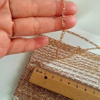 キワセイサクジョ(貴和製作所)のアクセサリーパーツ材料【金具系⑩ピンクゴールドチェーンアジャスター】6m90cm(各種パーツ)