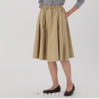 ムジルシリョウヒン(MUJI (無印良品))のイージーギャザーフレアスカート(ひざ丈スカート)