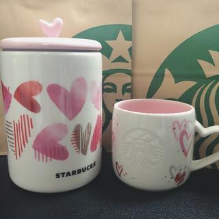 Starbucks Coffee - 最安値! スターバックス バレンタイン マグハート キャニスター