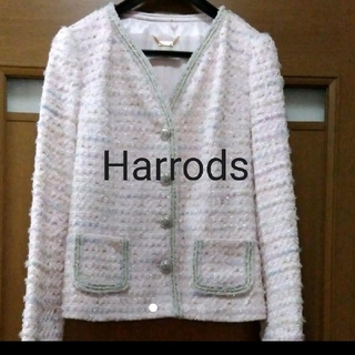 ハロッズ(Harrods)のハロッズ ニューイヤーツイードジャケット(ノーカラージャケット)