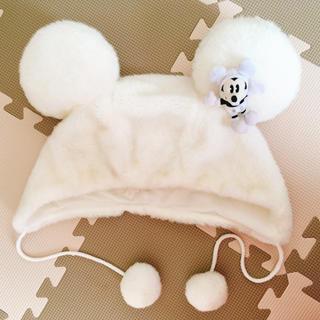 ディズニー(Disney)のディズニー 白ボア帽子(その他)