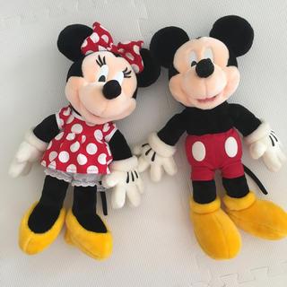 ディズニー(Disney)のミッキー&ミニーぬいぐるみ(ぬいぐるみ)