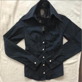 タブー(TaBoo)のtaboo 編み上げストライプブラウス(シャツ/ブラウス(半袖/袖なし))