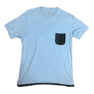 エム(M)のM(エム) チェックポケットTシャツ XL(Tシャツ/カットソー(半袖/袖なし))