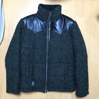 ダブル(DOWBL)のDOWBL モールツイードボア 中綿ジャケット サイズ46(ブルゾン)