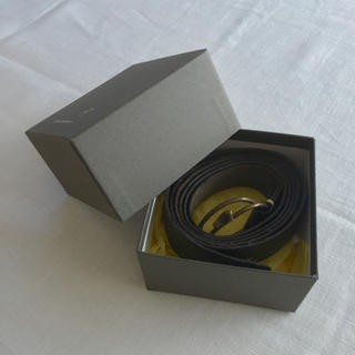 ミナペルホネン(mina perhonen)のミナペルホネン とりモチーフの革製ベルト ブラック(ベルト)