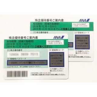 【最新】ANA(全日本空輸) 株主優待券2枚(航空券)