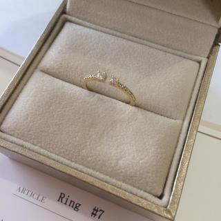 ポンテヴェキオ(PonteVecchio)のポンテヴェキオ、リング、7号、K18、YG、ダイヤ、ダイヤリング(リング(指輪))