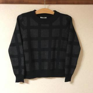 シンプリシテェ(Simplicite)の● simpliciue チェック ニット セーター    ブラック  (ニット/セーター)