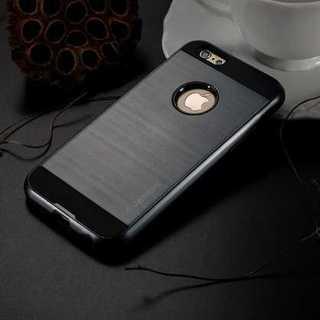 【送料無料】 iPhone6/6s用 メタル系 (ブラック 黒)(iPhoneケース)