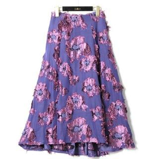 グレースコンチネンタル(GRACE CONTINENTAL)の新品18AW  グレースコンチネンタル 花柄スカート(ロングスカート)