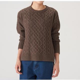 MUJI (無印良品) - 無印良品 アラン柄セーター M 新品未使用